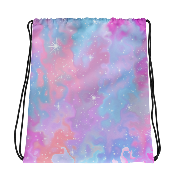 Cotton Candy Stars Drawstring bag