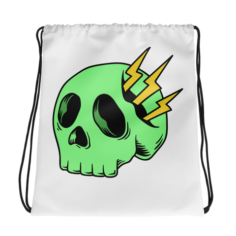 Lighting Skull Drawstring bag