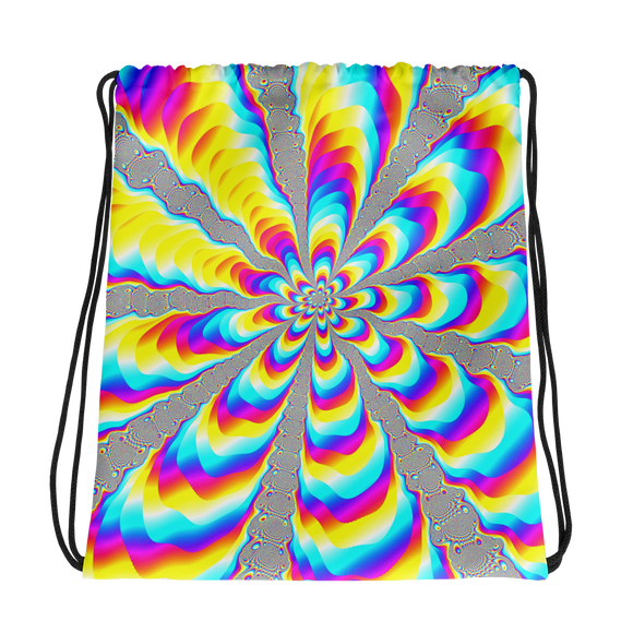 Color Vortex Drawstring bag