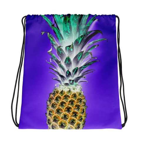 Bright Pineapple Drawstring bag