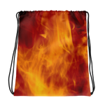 Fire Drawstring bag