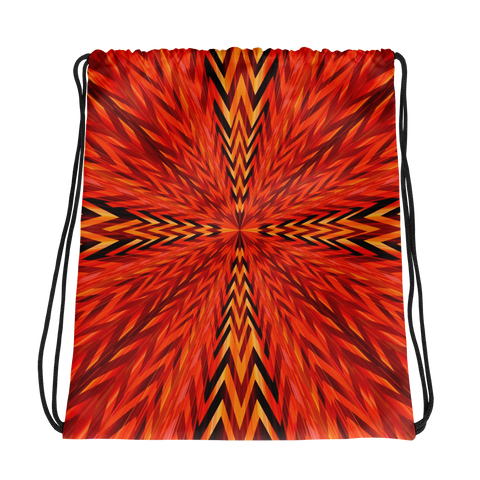 Zig Zag Vortex Drawstring bag