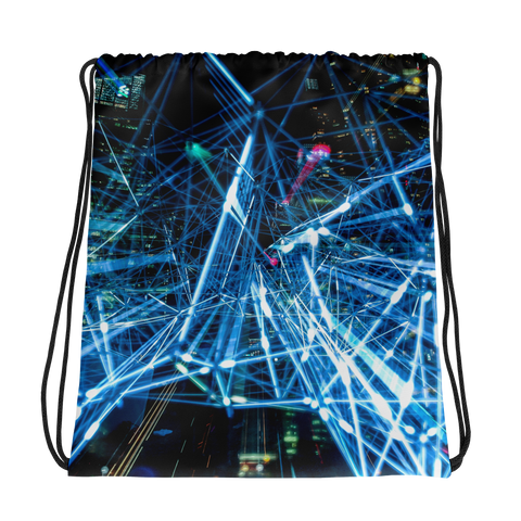 Lights Drawstring bag