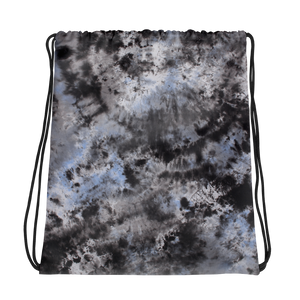 Dark Tie Dye Drawstring bag