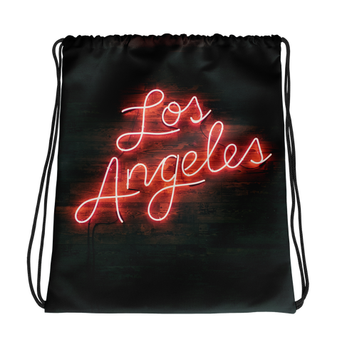 Los Angeles Drawstring bag