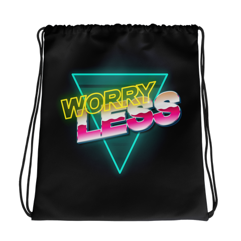 Worry Less Drawstring bag