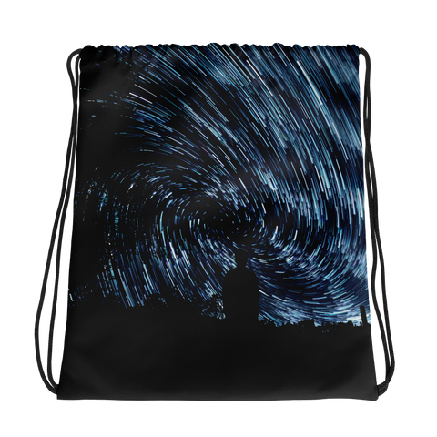 Night Twist Drawstring bag