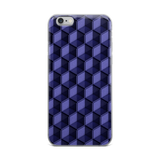 Purple Hexagon iPhone Case