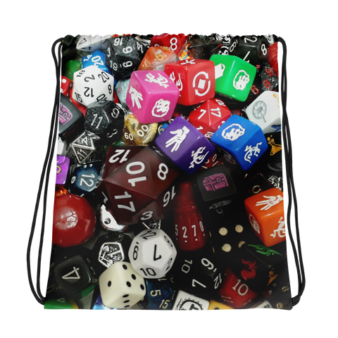 Dice Games Drawstring bag