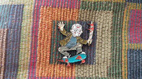 Jason Skateboarding Hat Pin