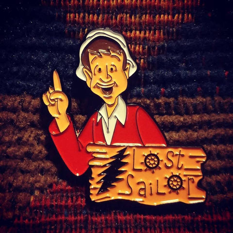 Dead Head Gilligan Needs a Miracle Lost Sailor Nautical Enamel Lapel Hat Pin