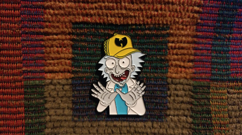Wu Rick 1990's Hip Hop 90's Rap Enamel Lapel Hat Pin