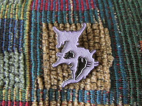 ZD Purple Glow in the Dark Bass Music Dubstep Enamel Lapel Hat Pin