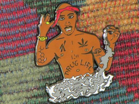 Tupac 2pac 2 Pac Inspired Drug Life Enamel Hip Hop Music Novelty Lapel Hat Pin