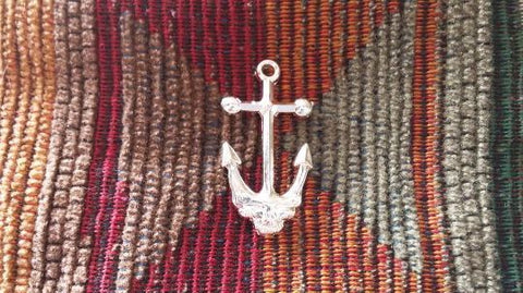 Dead Head Metallic Silver Ship of Fools Lost Sailor Anchor Skull Nautical Pin
