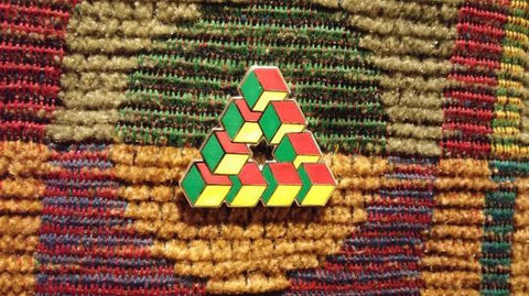 Impossible Geometry Hat Pin