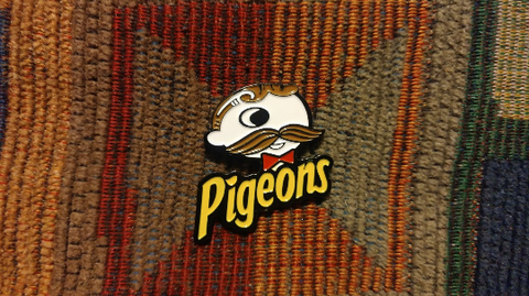 Pigeons P4 Funk Band Inspired Natty Bo Potato Chips Parody Enamel Lapel Hat Pin