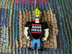 EDM Bass Music Festival Rave DJ Concert Cartoon Comic Bravo Lapel Hat Pin Rare