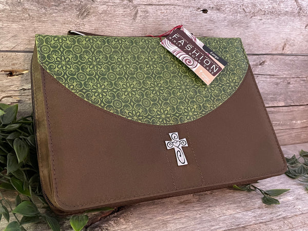 Bible Cover: Green Texture (Large)
