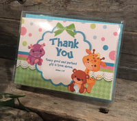 Thank You Cards: Baby Animals