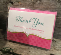 Thank You Cards: Baby Pink