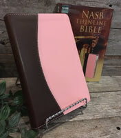 NASB Thinline Bible (Pink/Chocolate)