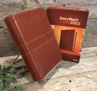 Every Man's Bible: A Bible for Every Battle Every Man Faces; Deluxe Journeyman Edition (NIV)