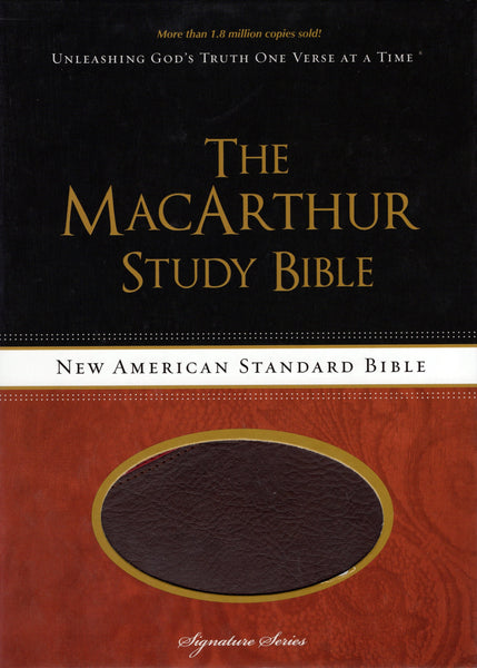 """The MacArthur Study Bible: Unleashing God's Truth One Verse at a Time (NASB)"""