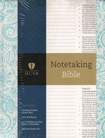 """HCSB Notetaking Bible (Blue, Floral)"""