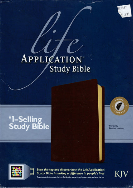 """KJV Life Application Study Bible (Burgundy, Bonded Leather)"""