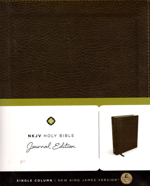 """NKJV Holy Bible: Single Column Journal Edition"""