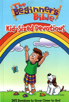 """The Beginner's Bible: Kid-Sized Devotions: 365 Devotions to Grow Closer to God"" illustrated by Kelly Pulley"