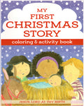 """My First Christmas Story: Coloring & Activity Book"" by Shiloh Kidz"