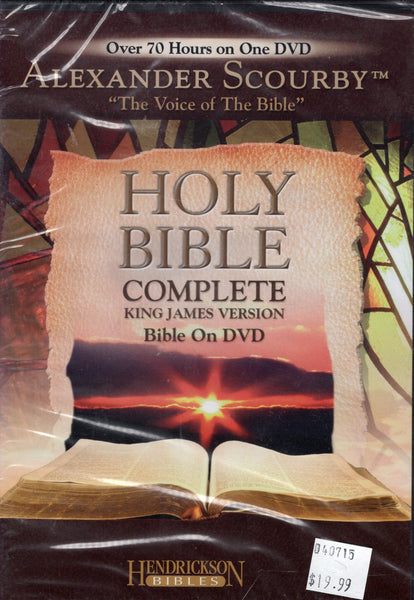 """Holy Bible: Complete King James Version Bible"" by Alexander Scourby (DVD)"