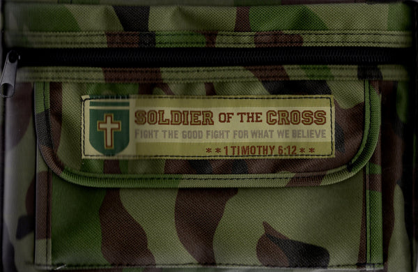 """Soldier of the Cross Bible Cover (Medium)"""