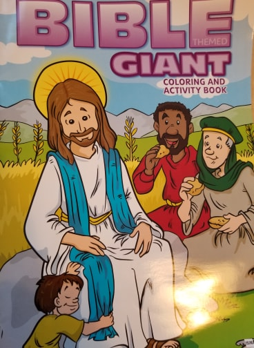 """Bible Themed Giant Coloring and Activity Book"""