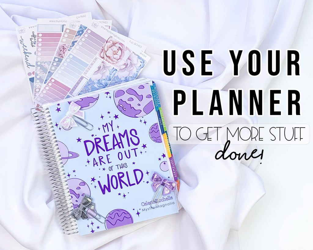 3 ways to help you remember to use your planner
