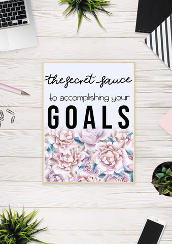 How to accomplish goals - picture for pinterest