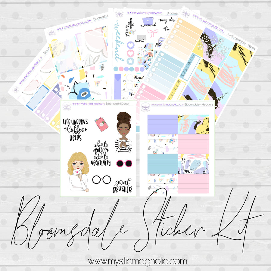 Bloomsdale Sticker Kit
