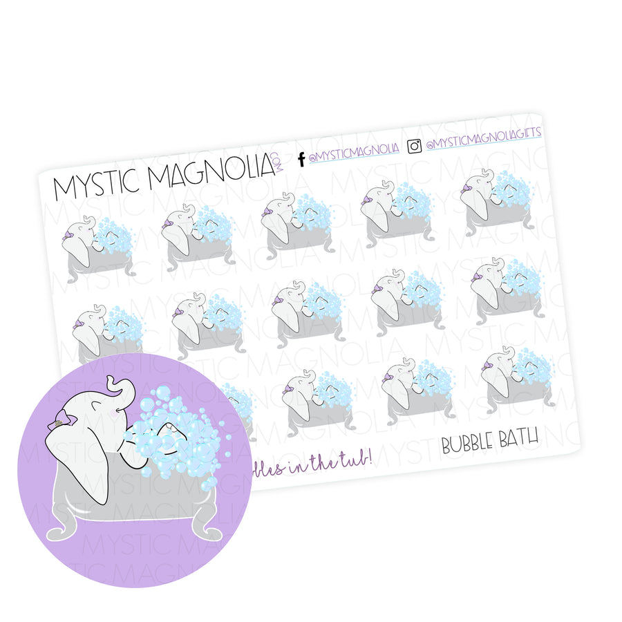 Mystic Bubble Bath Planner Sticker Sheet