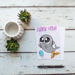 Journaling Cards -Thank You Sharky