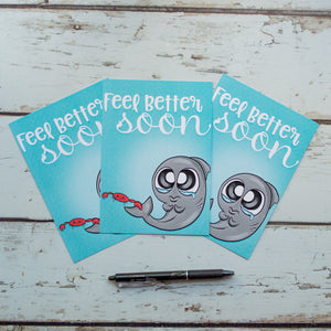Journaling Cards -Feel Better Sharky