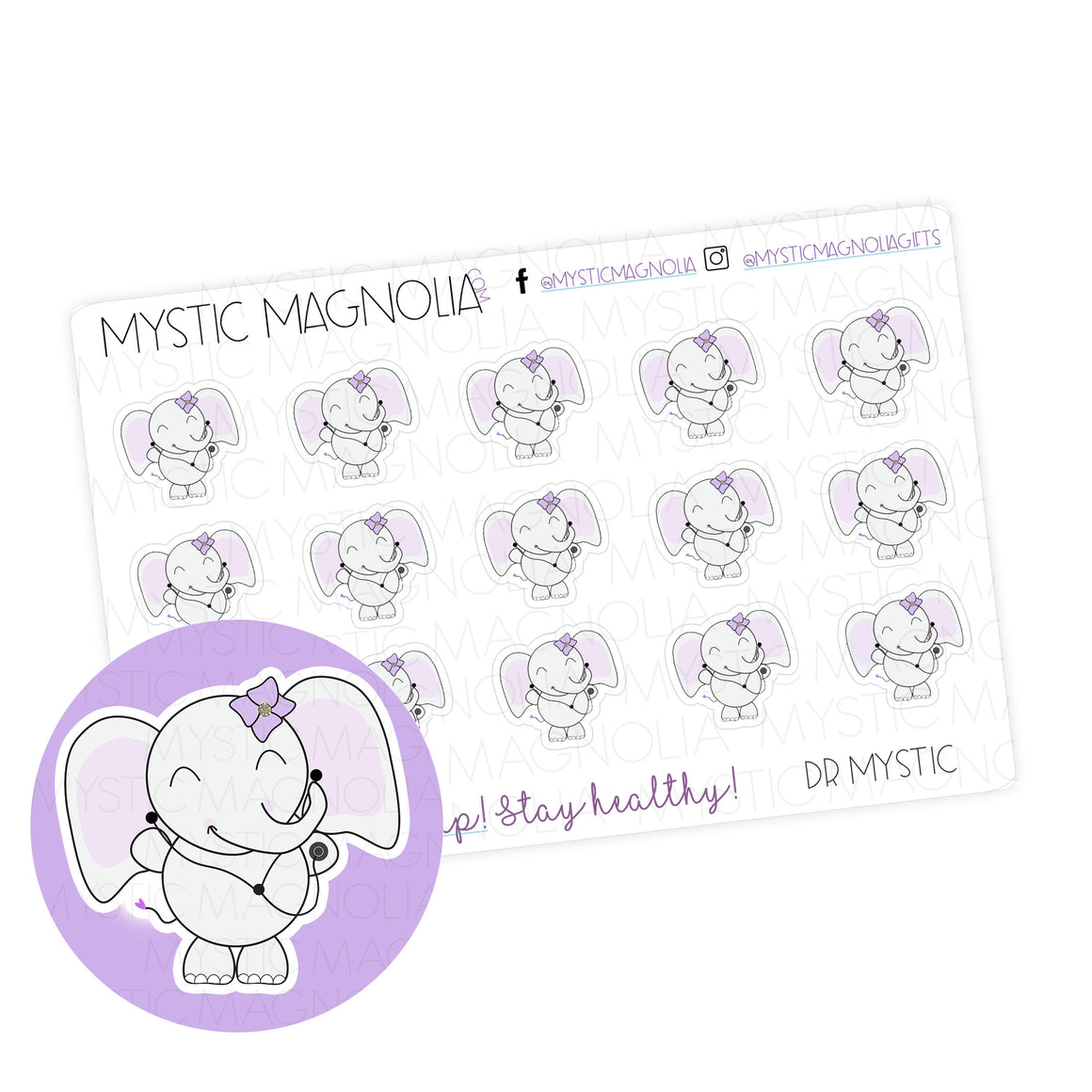 Dr Mystic Planner Sticker Sheet
