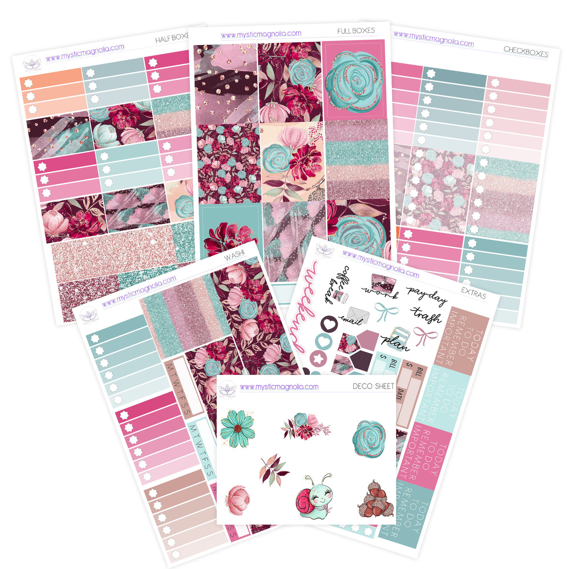 Fancy Florals Sticker Kit
