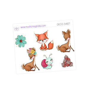 Forest Friends Sticker Kit