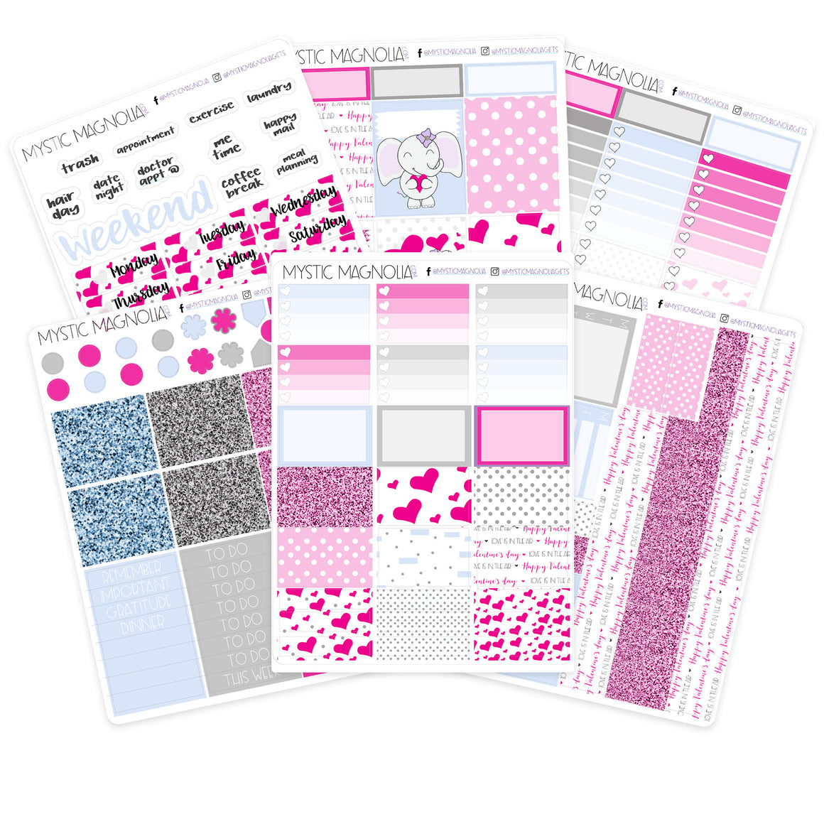 Love is in the AIr Planner Sticker Weekly Kit