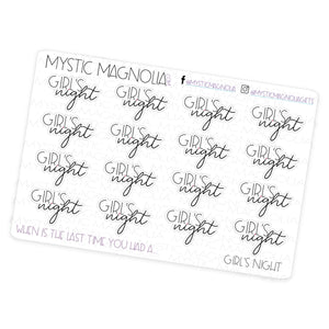 Girl's Night - Script Planner Stickers
