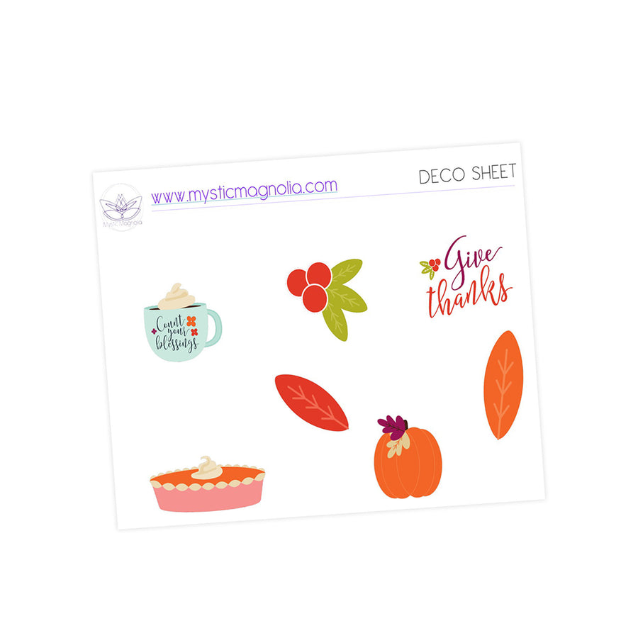Give Thanks Sticker Kit