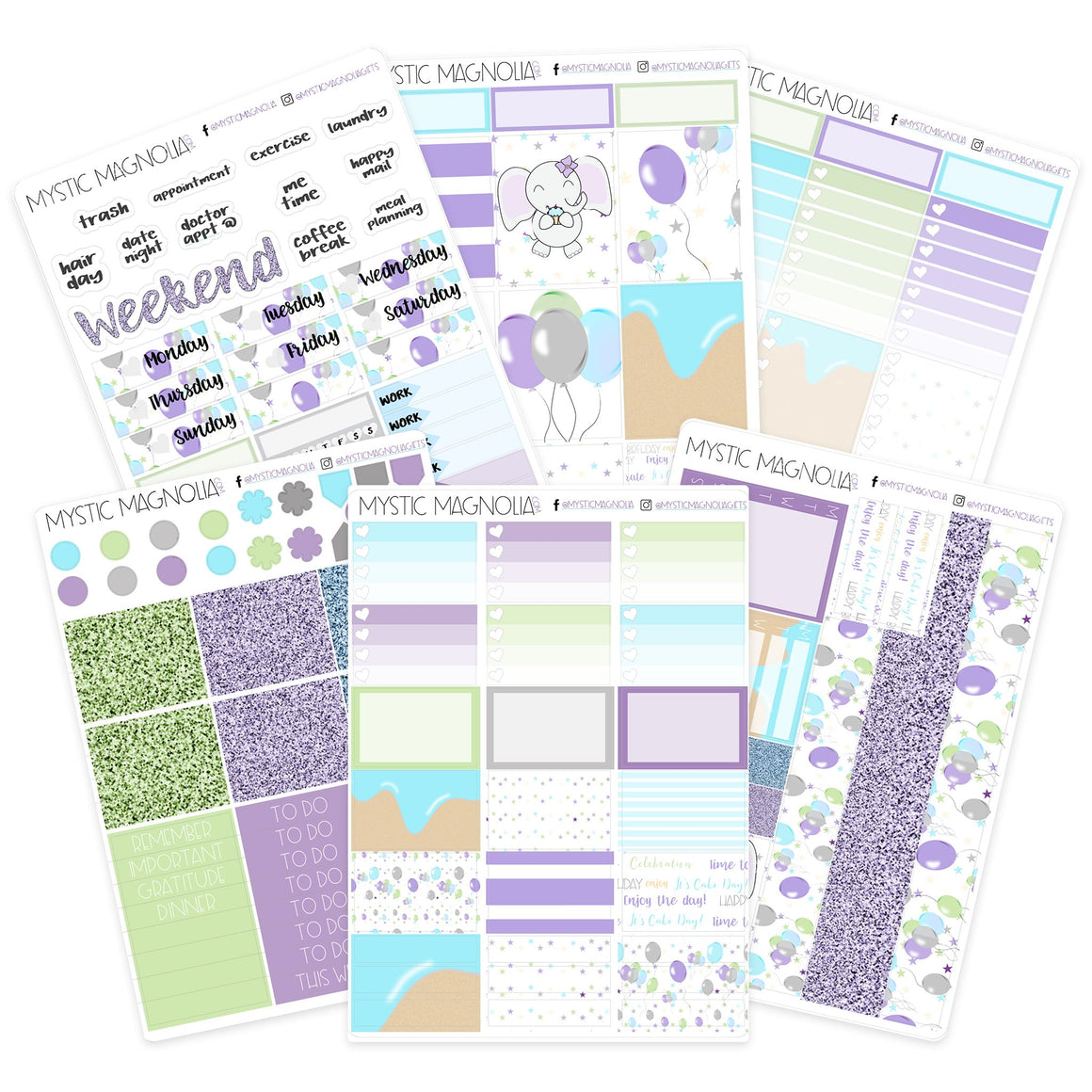Happy Birthday Planner Sticker Weekly Kit