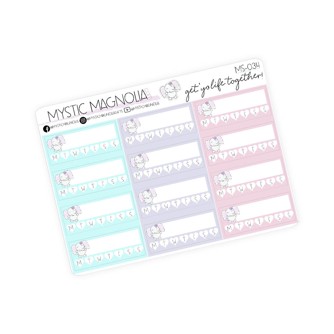 Mystic habit trackers - Planner Stickers
